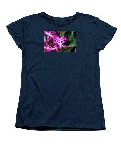 Women's T-Shirt (Standard Cut) featuring the photograph Christmas Cactus by Joan Bertucci