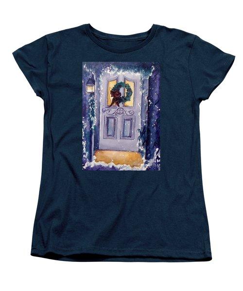 Christmas Eve Women's T-Shirt (Standard Cut) by Jan Bennicoff