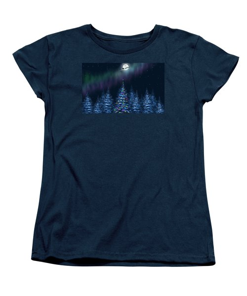 Women's T-Shirt (Standard Cut) featuring the painting Christmas Eve by Veronica Minozzi