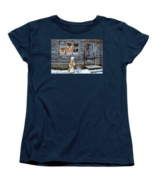 christmas in Scandinavia Women's T-Shirt (Standard Cut) by Tamara Sushko