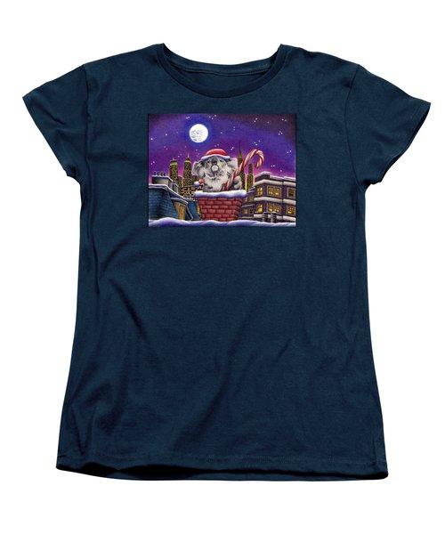 Christmas Koala In Chimney Women's T-Shirt (Standard Cut) by Remrov