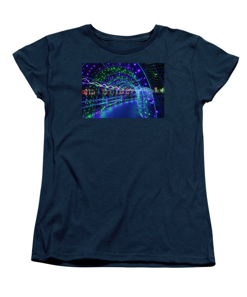 Christmas Lights In Tunnel At Lafarge Lake Women's T-Shirt (Standard Fit)