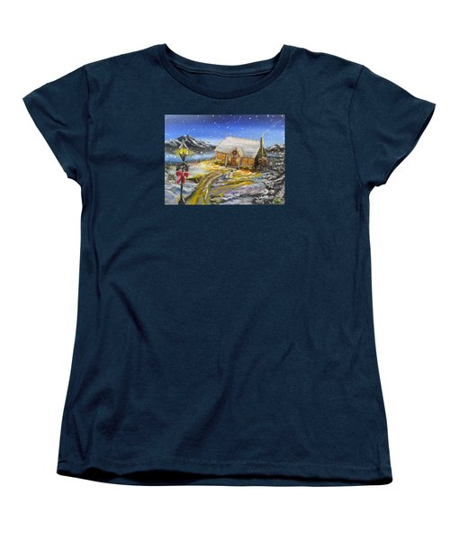 Christmas On The Bay Women's T-Shirt (Standard Cut) by Kevin F Heuman