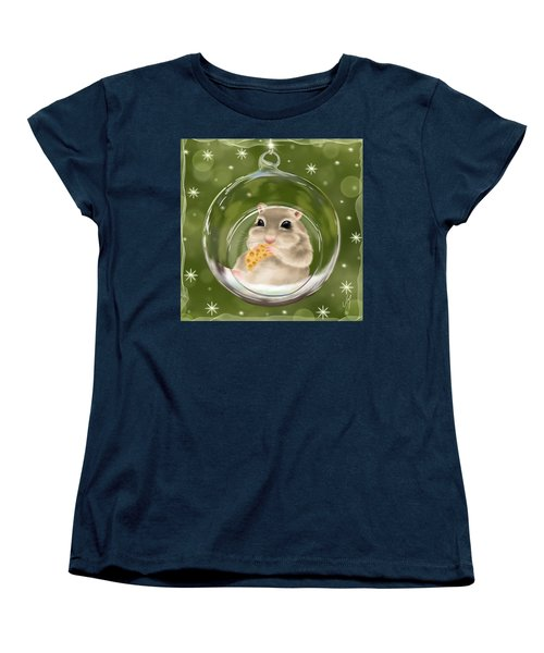 Women's T-Shirt (Standard Cut) featuring the painting Christmas Relax by Veronica Minozzi