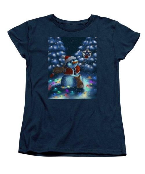 Women's T-Shirt (Standard Cut) featuring the painting Christmas Season by Veronica Minozzi