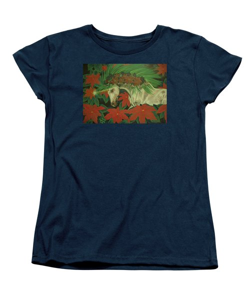 Christmas Star Women's T-Shirt (Standard Cut) by Melita Safran