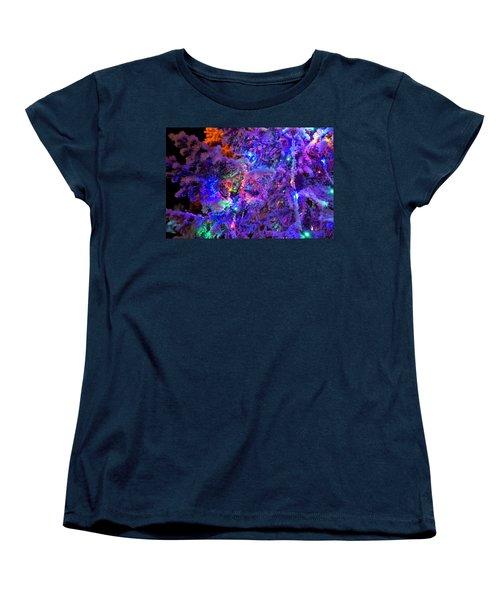 Christmas Tree Night Decoration Women's T-Shirt (Standard Cut) by Tamara Sushko
