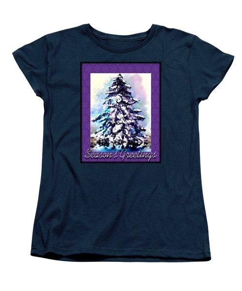 Christmas Tree Women's T-Shirt (Standard Cut) by Susan Kinney