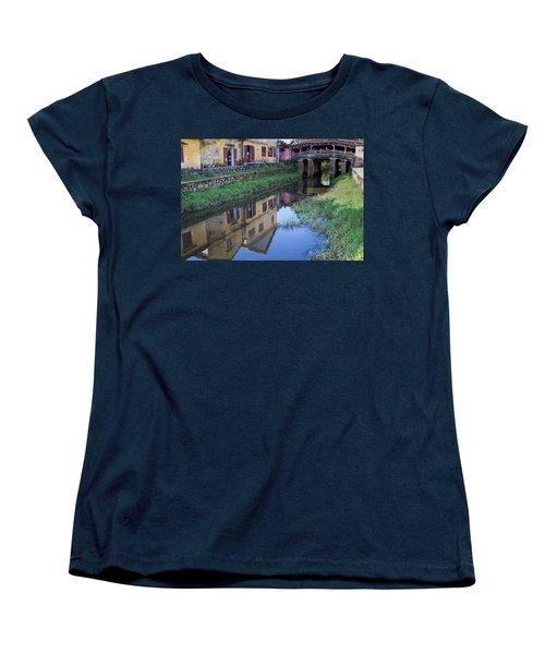 Women's T-Shirt (Standard Cut) featuring the photograph Chua Cau Reflection by Hitendra SINKAR