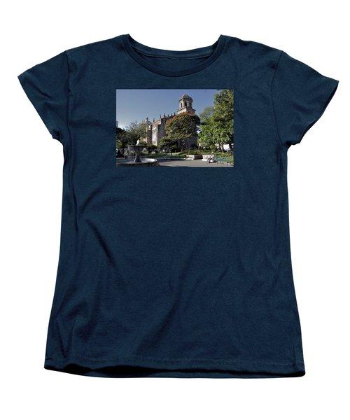 Church And Fountain Guadalajara Women's T-Shirt (Standard Cut) by Jim Walls PhotoArtist
