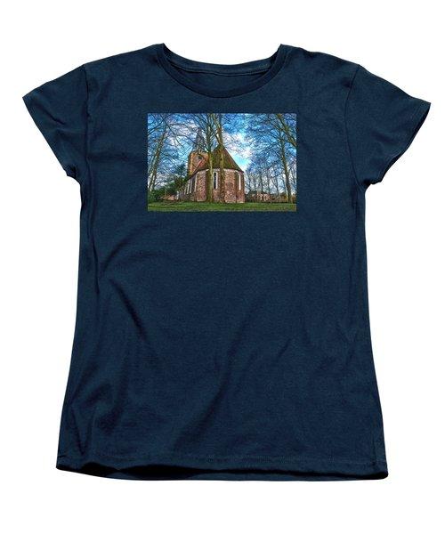 Church In Winsum Women's T-Shirt (Standard Cut) by Frans Blok