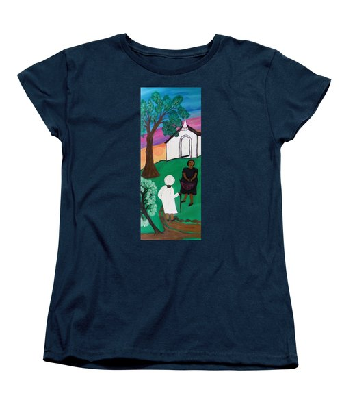 Church Ladies  Women's T-Shirt (Standard Cut) by Mildred Chatman