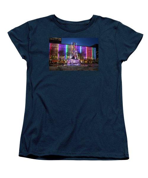 Cincinnati Fountain Square Women's T-Shirt (Standard Cut) by Scott Meyer