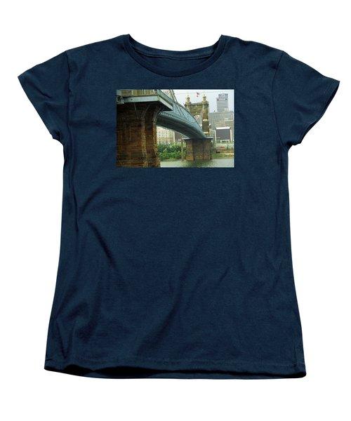 Cincinnati - Roebling Bridge 2 Women's T-Shirt (Standard Cut) by Frank Romeo