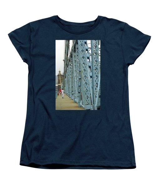 Cincinnati - Roebling Bridge 3 Women's T-Shirt (Standard Cut) by Frank Romeo