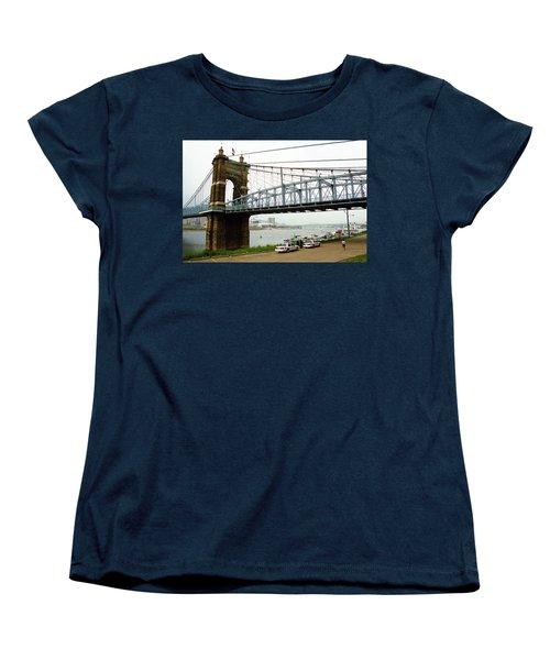 Cincinnati - Roebling Bridge 5 Women's T-Shirt (Standard Cut) by Frank Romeo