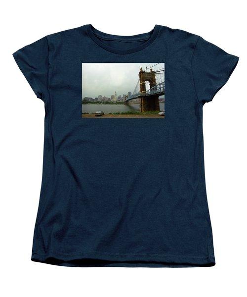 Cincinnati - Roebling Bridge 6 Women's T-Shirt (Standard Cut) by Frank Romeo