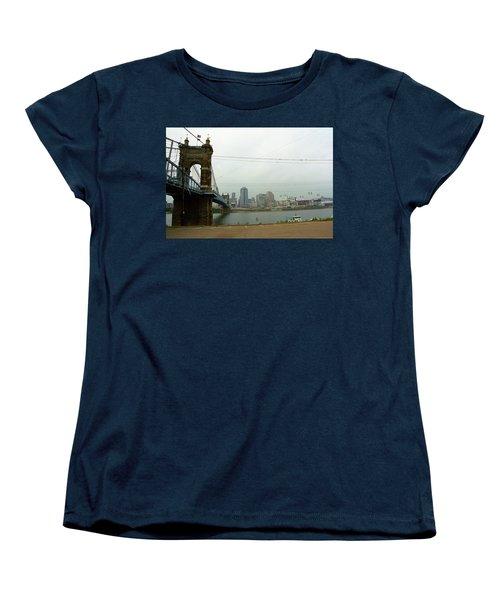 Cincinnati - Roebling Bridge 7 Women's T-Shirt (Standard Cut) by Frank Romeo
