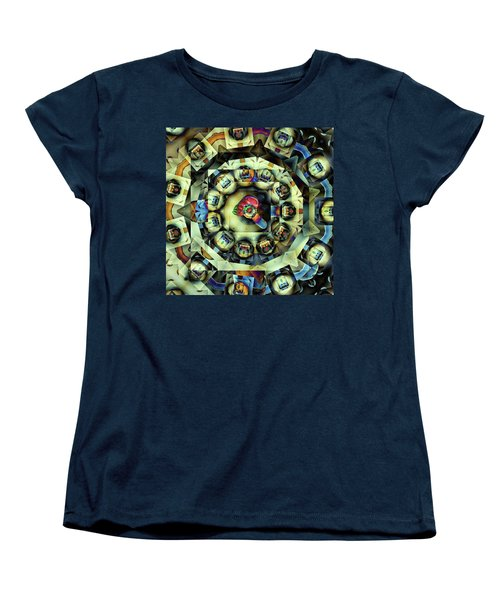 Women's T-Shirt (Standard Cut) featuring the digital art Circled Squares by Ron Bissett