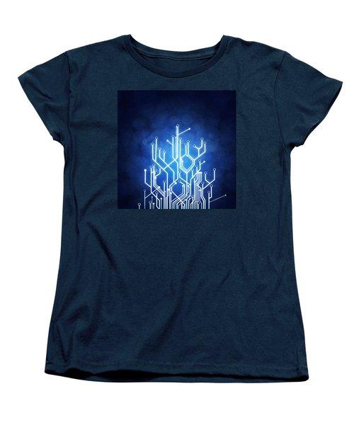 Circuit Board Technology Women's T-Shirt (Standard Cut) by Setsiri Silapasuwanchai