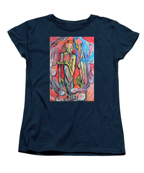 Circular - Around Women's T-Shirt (Standard Cut) by Kenneth Agnello