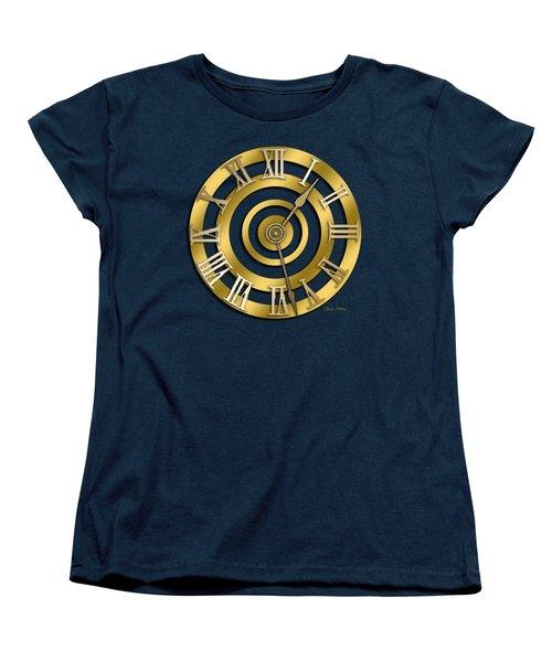 Circular Clock Design Women's T-Shirt (Standard Cut) by Chuck Staley