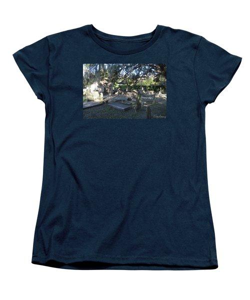 Circular Congregational Graveyard 1 Women's T-Shirt (Standard Cut) by Gordon Mooneyhan