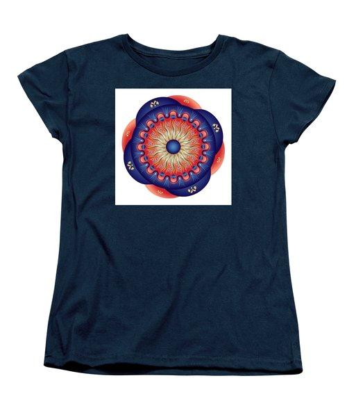Women's T-Shirt (Standard Cut) featuring the digital art Circularium No 2655 by Alan Bennington