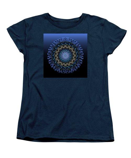 Women's T-Shirt (Standard Cut) featuring the digital art Circularium No 2656 by Alan Bennington