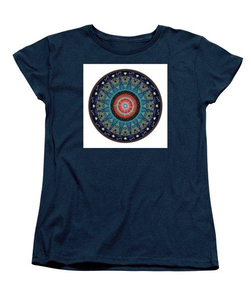 Women's T-Shirt (Standard Cut) featuring the digital art Circularium No 2661 by Alan Bennington