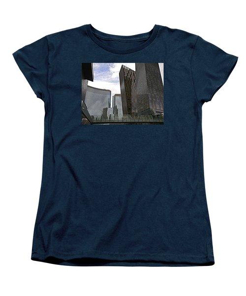 City Center At Las Vegas Women's T-Shirt (Standard Cut) by Karen J Shine