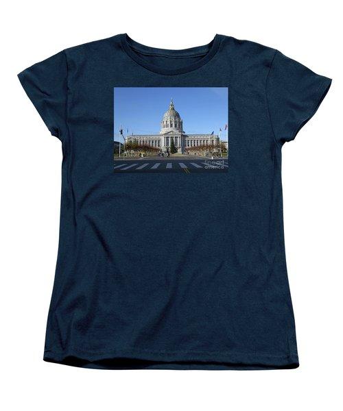 Women's T-Shirt (Standard Cut) featuring the photograph City Hall by Steven Spak