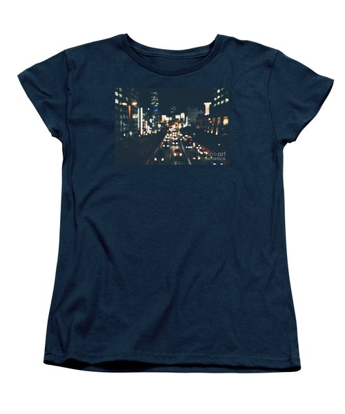 Women's T-Shirt (Standard Cut) featuring the photograph City Lights by MGL Meiklejohn Graphics Licensing