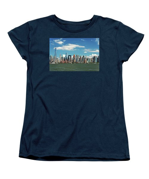 Women's T-Shirt (Standard Cut) featuring the photograph City - New York Ny - The New York Skyline by Mike Savad
