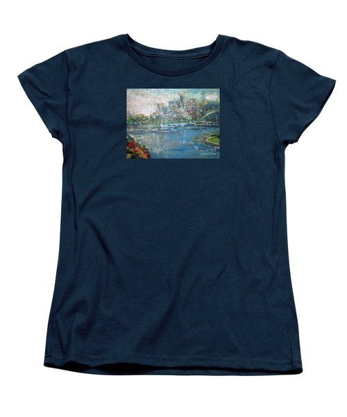 Women's T-Shirt (Standard Cut) featuring the painting City On The Bay by John Fish