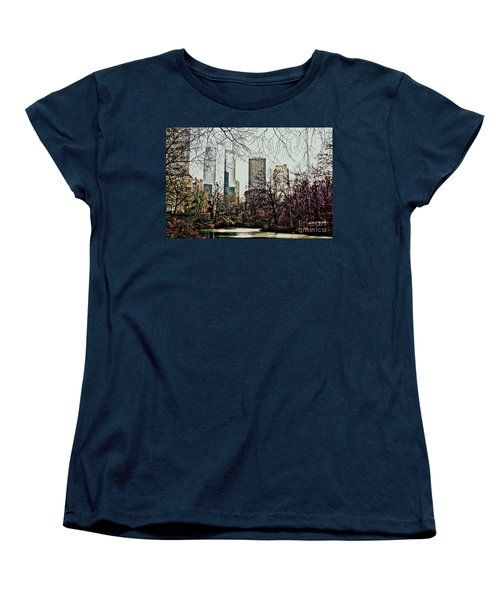 Women's T-Shirt (Standard Cut) featuring the photograph City View From Park by Sandy Moulder