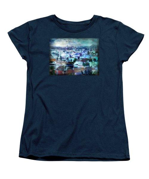 Women's T-Shirt (Standard Cut) featuring the photograph Cityscape #41 - Blue Whispers by Alfredo Gonzalez