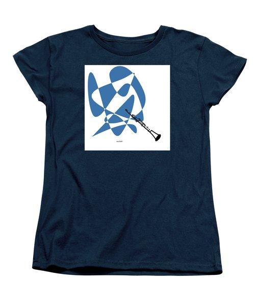 Clarinet In Blue Women's T-Shirt (Standard Cut) by David Bridburg