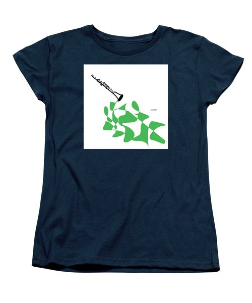 Clarinet In Green Women's T-Shirt (Standard Cut) by David Bridburg