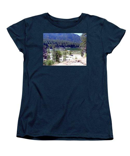 Clark Fork River Missoula Montana Women's T-Shirt (Standard Cut) by Kay Novy