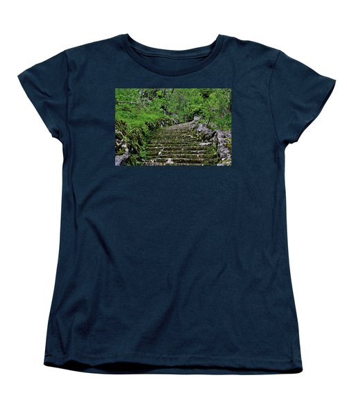 Women's T-Shirt (Standard Cut) featuring the photograph Clark Reservation  by Suzanne Stout