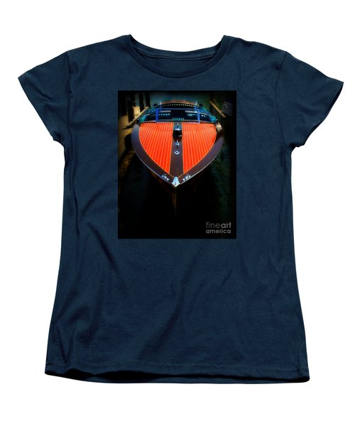 Classic Wooden Boat Women's T-Shirt (Standard Cut) by Perry Webster