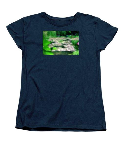 Women's T-Shirt (Standard Cut) featuring the photograph Claude Monets Water Garden Giverny 1 by Dubi Roman