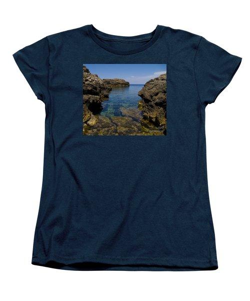 Clear Water Of Mallorca Women's T-Shirt (Standard Cut) by Anastasy Yarmolovich