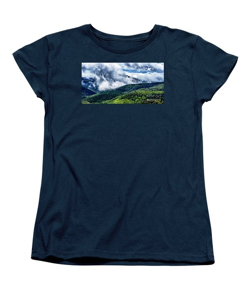 Women's T-Shirt (Standard Cut) featuring the photograph Clearing Storm Highland Scenic Highway by Thomas R Fletcher