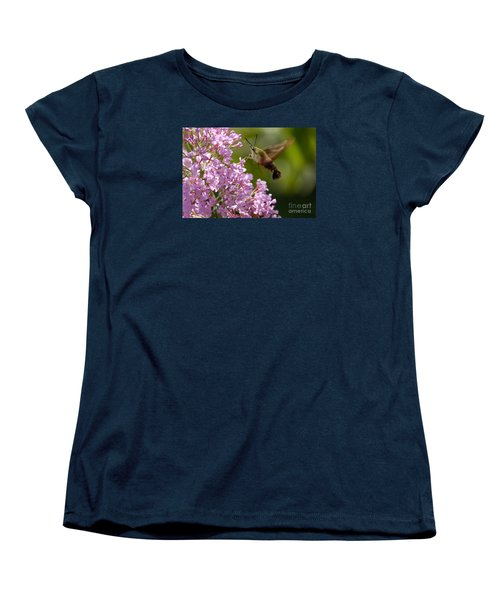 Women's T-Shirt (Standard Cut) featuring the photograph Clearwing Pink by Randy Bodkins