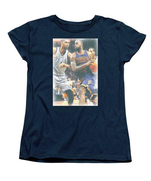 Cleveland Cavaliers Lebron James 4 Women's T-Shirt (Standard Cut) by Joe Hamilton