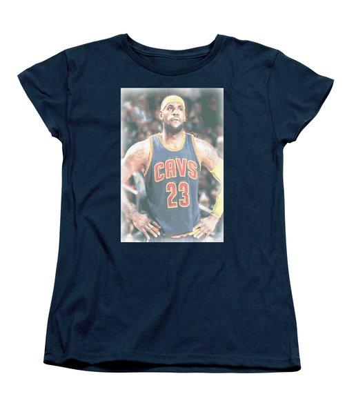 Cleveland Cavaliers Lebron James 5 Women's T-Shirt (Standard Cut)