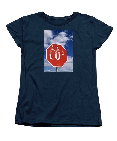 Climate Change Women's T-Shirt (Standard Cut) by George Robinson