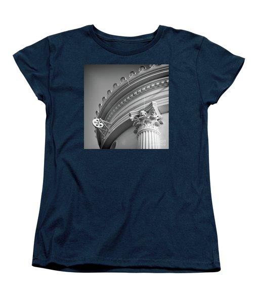 Closeup Of Lighthouse  -58750 Women's T-Shirt (Standard Cut) by John Bald